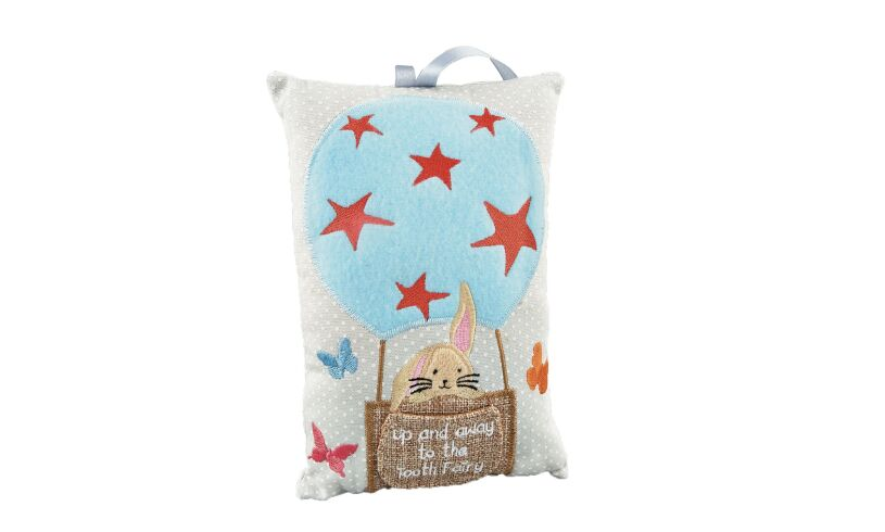 Floss and Rock Bunny Tooth Fairy Cushion