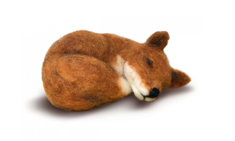 Crafty Kit Company Sleepy Fox Needle Felting Kit