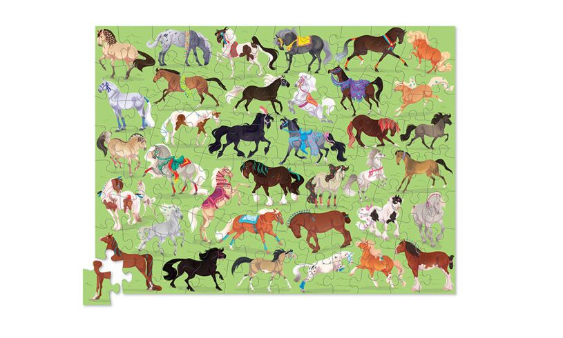 Thirty Six Horses 100 Piece Puzzle