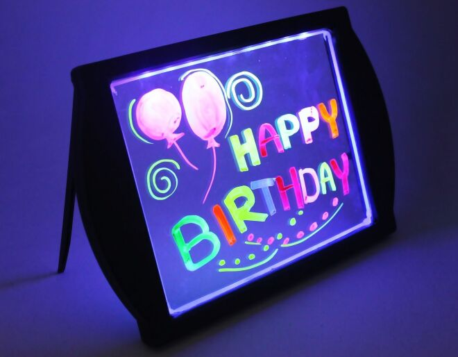 Black Glow Art Neon Effect Drawing Board