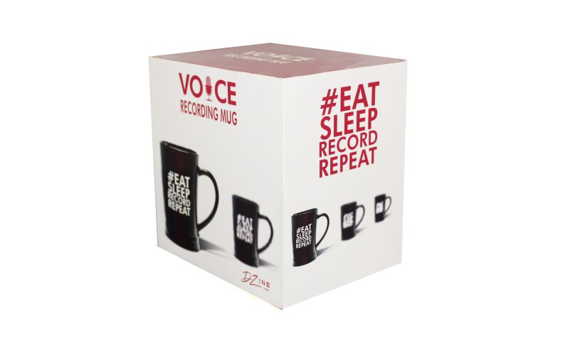 Voice recording mug box