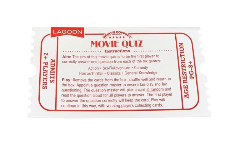 Lagoon Group What's Poppin? Movie Quiz