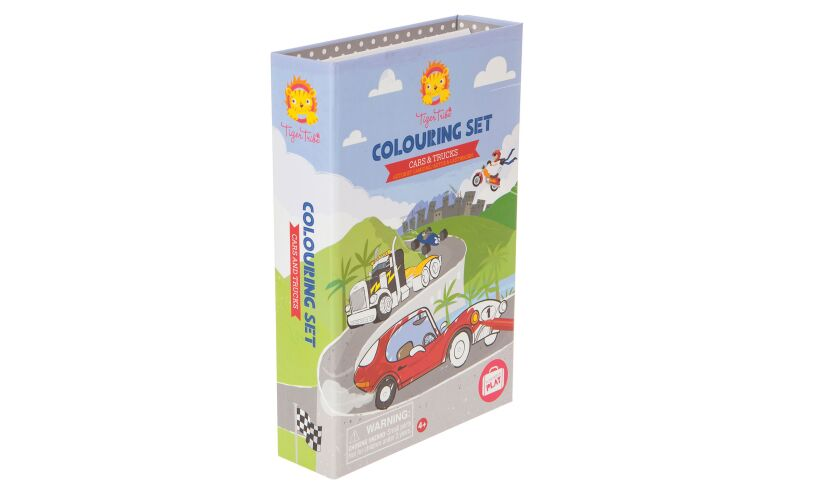 Tiger Tribe Cars & Trucks Colouring Set