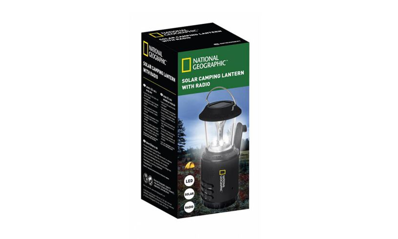 National Geographic Solar Camping Lantern with Radio
