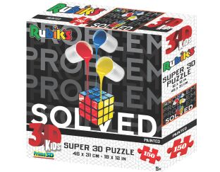 Rubik's Solved Painted