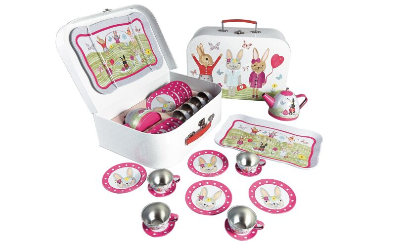 Floss & Rock Bunny Tea Set Open