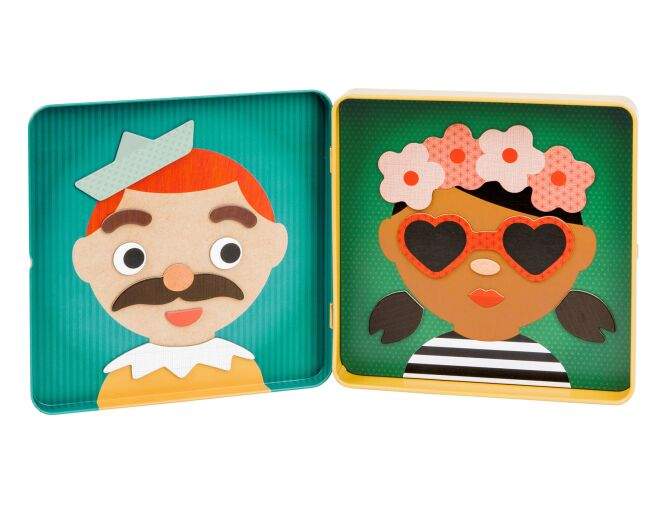 Petitcollage Funny Faces Magnetic Play Set