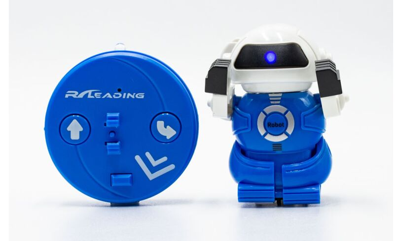 Robot in a can blue