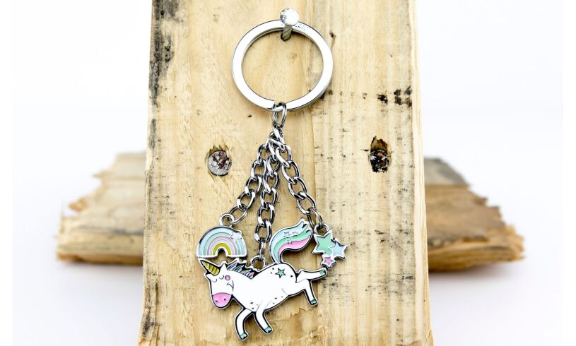 Unicorn Rainbow Keyring