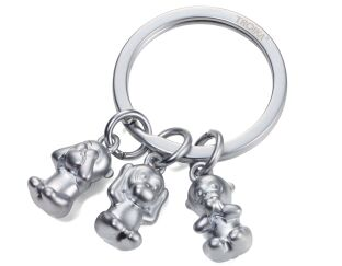 Troika Three Monkeys Keyring