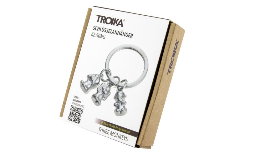 Three Monkeys Keyring