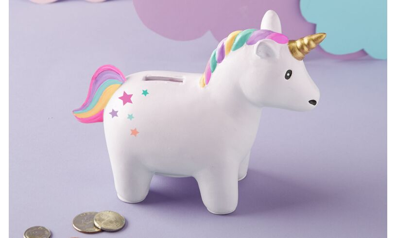 Rainbow Unicorn Ceramic Money Bank
