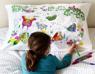 Butterfly Pillowcase Doodle your own