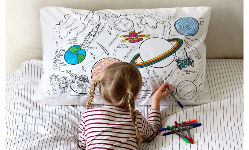Space Explorer Pillowcase Doodle your own