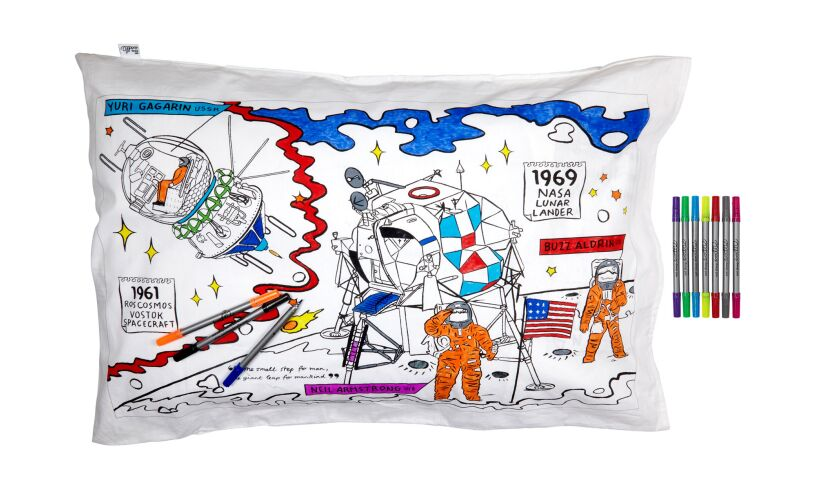 Space Explorer Pillowcase Eat Sleep Doodle