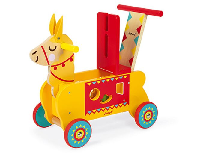 Ride on llama shape sorter