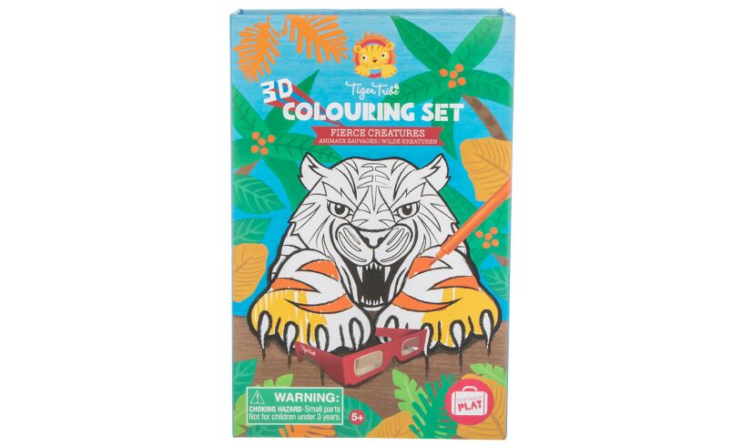 Fierce Creatures 3D Colouring Set