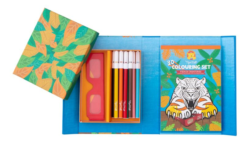 Tiger Tribe Fierce Creatures 3D Colouring Set
