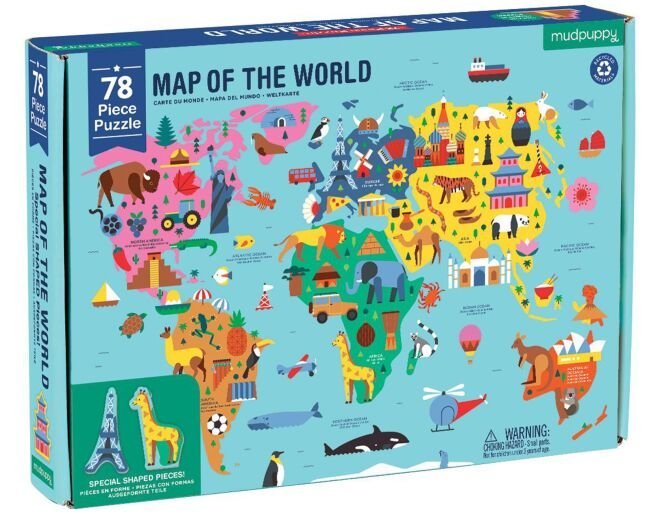 Mudpuppy World Map Puzzle