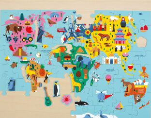 """Puzzle Games For Toddlers Learn USA Map Fun And Colorful 15/"""" x 11/"""" 40 Pcs New"""
