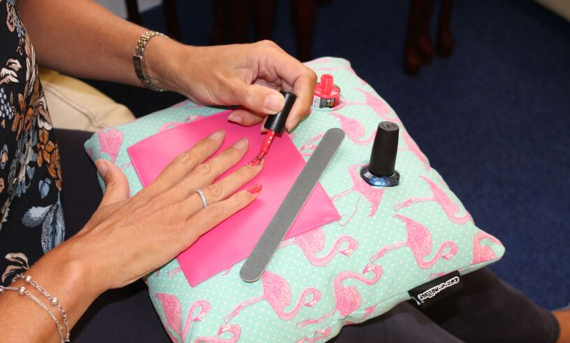 Flamingo Manicure Cushion