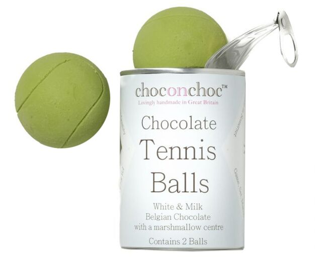 Chocolate Tennis Balls in a can