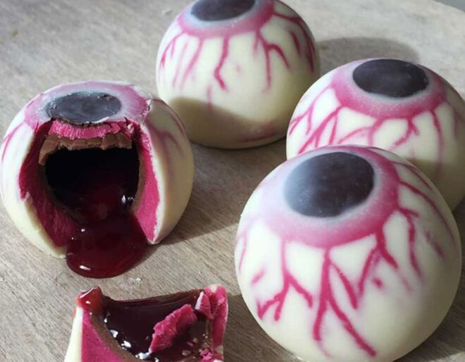 Gooey Chocolate Eyeballs