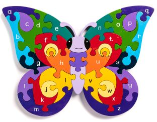 Alphabet Butterfly Jigsaw Puzzle
