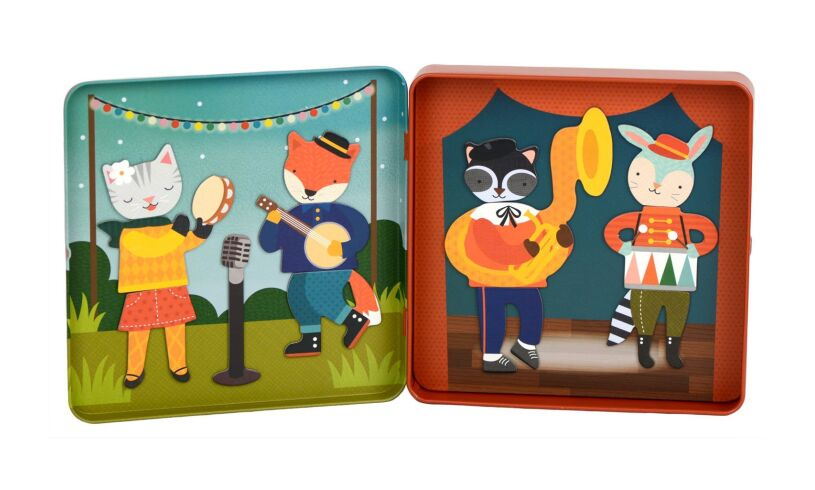 Animal Band Petit Collage Magnetic Play Set