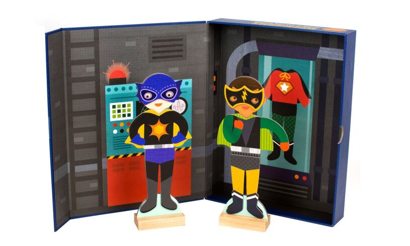 Petitcollage Superheroes Magnetic Costume Builder