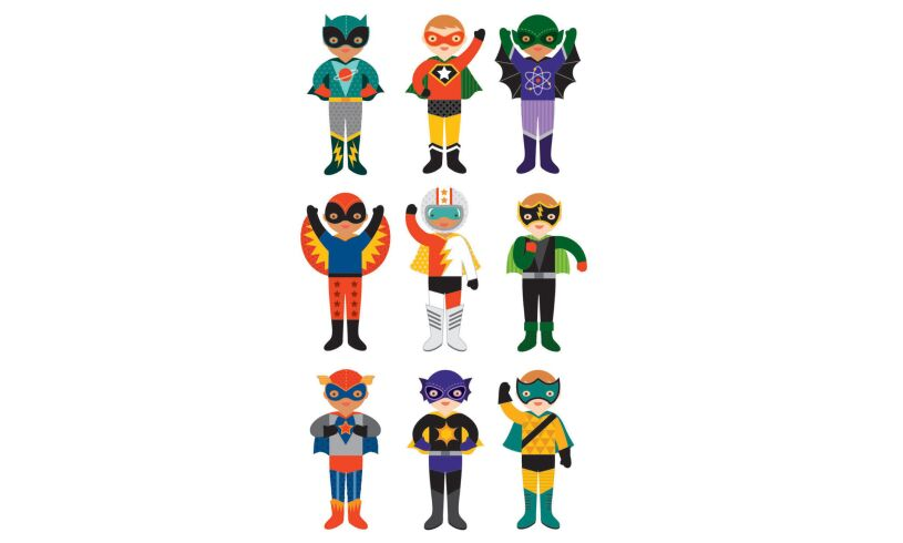 Superheroes Petitcollage