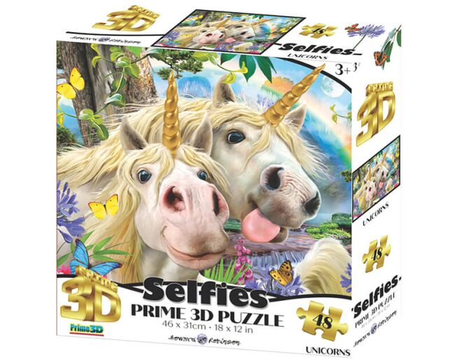 Selfies 3D Unicorn Puzzle