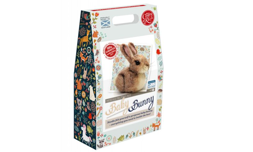 Crafty Kit Co Baby Bunny Needle Felting Kit