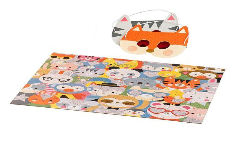Petitcollage Animal Festival Decoder Puzzle