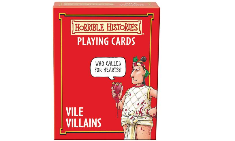 Vile Villains Horrible Histories Playing Cards