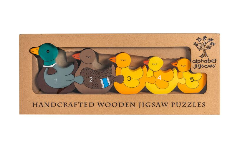 Alphabet Jigsaws Duck Row Number Puzzle