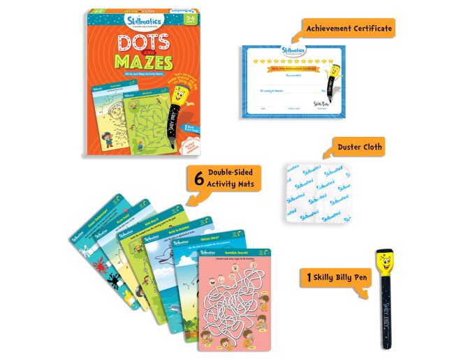 Skillmatics Dots and Mazes Contents