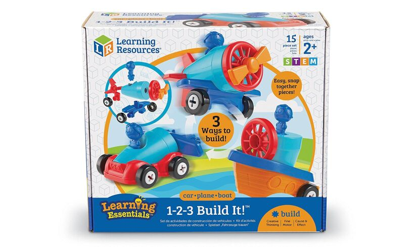 'Car Boat and Plane - 1-2-3 Build It