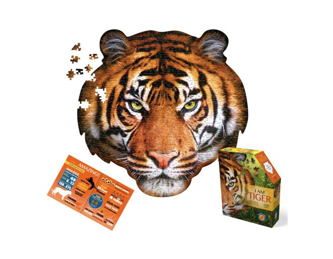 Tiger Shaped Jigsaw Puzzle