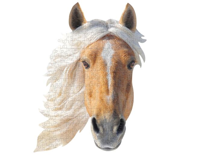 I Am Horse Shaped Jigsaw Puzzle