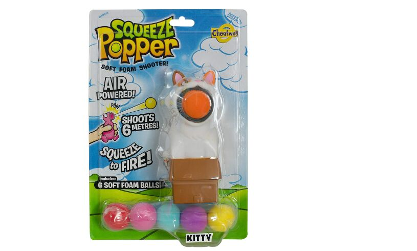 Kitty Squeeze Popper Soft Foam Balls