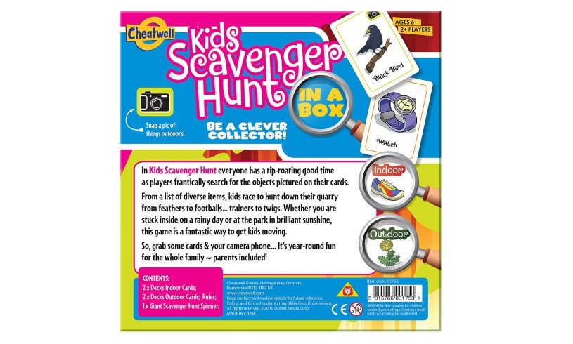 Kids Scavenger Hunt Board Game