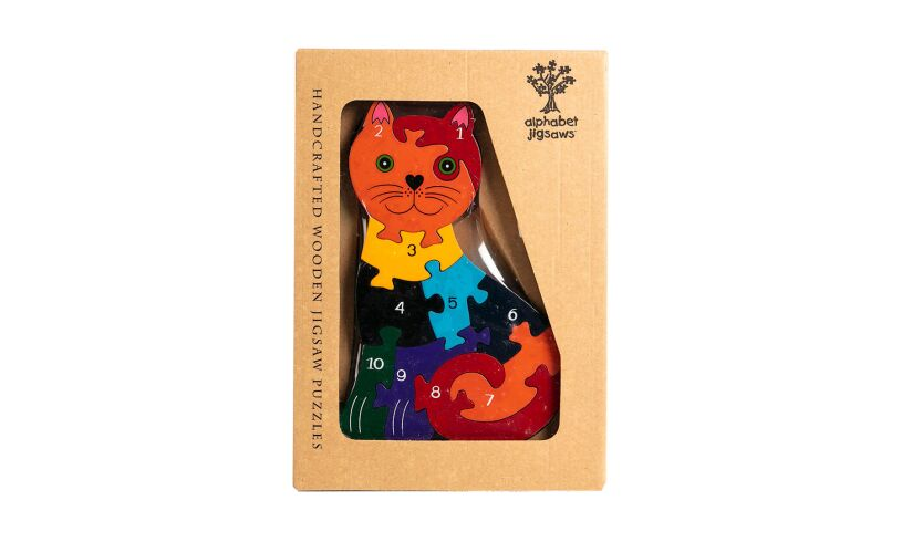 Number Cat Jigsaw Pieces