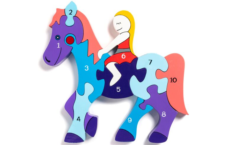 Wooden Horse Number Jigsaw Puzzle