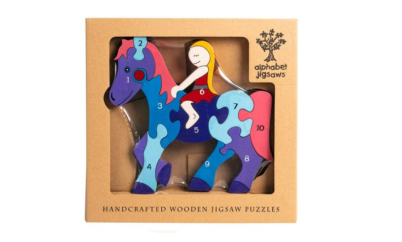 Alphabet Jigsaws Wooden Horse Puzzle