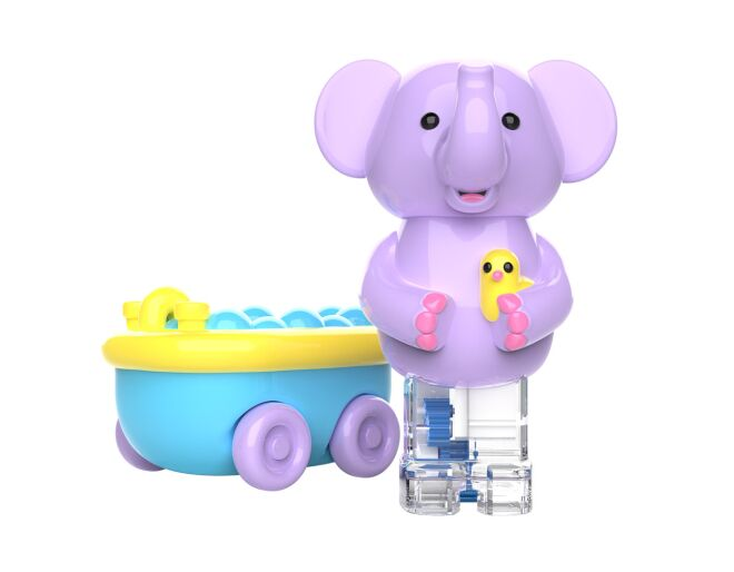 Zoomigos Elephant & Bathtub Car