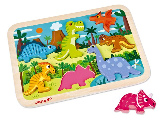 Janod Dinosaur Chunky Wooden Puzzle