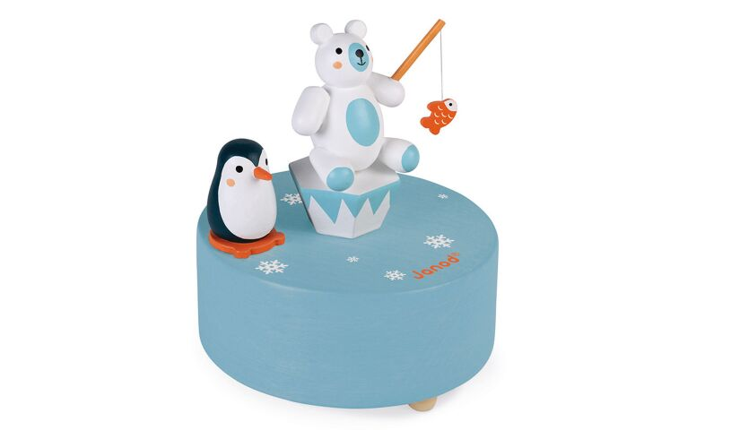 Polar Wooden Music Box