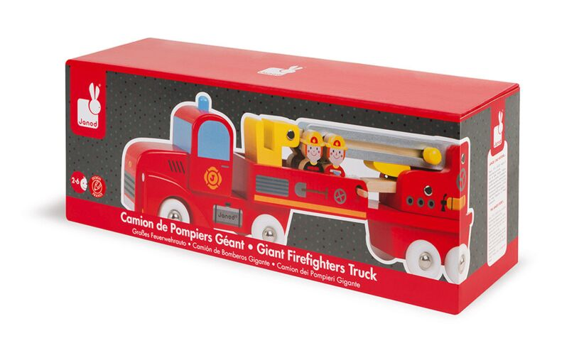 Janod Giant Firefighters Truck