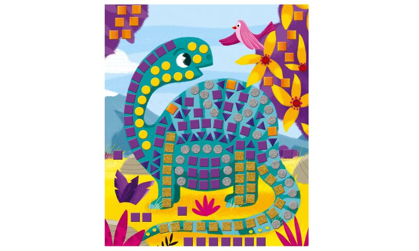 Mosaic Dinosaur Picture